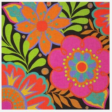 click here to view larger image of Harlequin Floral (hand painted canvases)