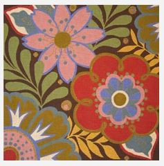 click here to view larger image of Fall Harlequin Floral (hand painted canvases)