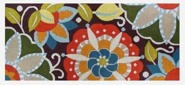 click here to view larger image of Fall Pinwheel Lumbar (hand painted canvases)
