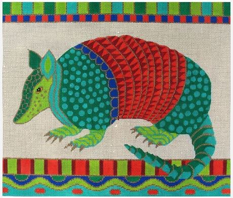 click here to view larger image of Large Armadillo (hand painted canvases)