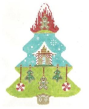 click here to view larger image of Sweet Gingerbread Tree (hand painted canvases)