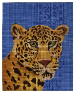 click here to view larger image of Aztec Leopard   (hand painted canvases)