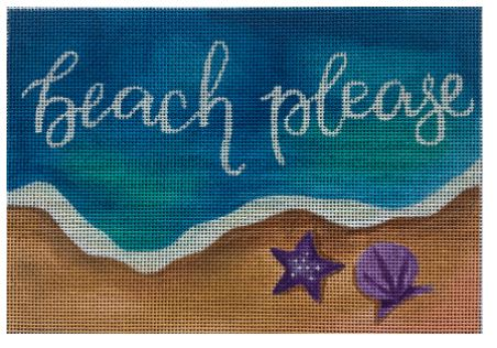 click here to view larger image of Beach Please !   (hand painted canvases)
