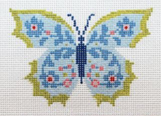 click here to view larger image of Blue Butterfly II (hand painted canvases)