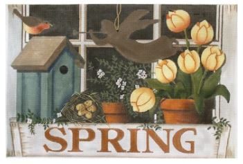 click here to view larger image of Spring Window Box (hand painted canvases)