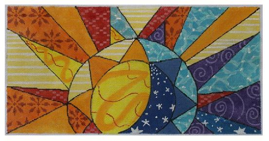 click here to view larger image of Colorful Sun Rays (hand painted canvases)