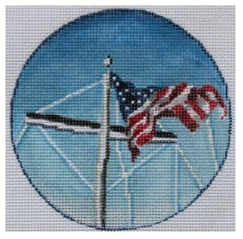 click here to view larger image of Fly Your Flag Ornament (hand painted canvases)