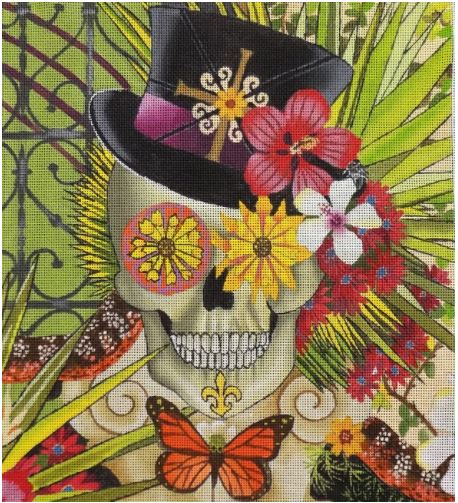 click here to view larger image of Baron in Bloom (hand painted canvases)