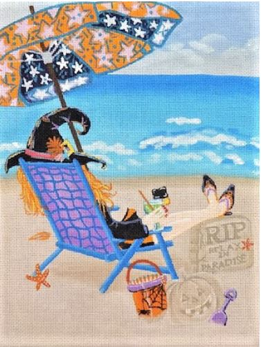 click here to view larger image of Beachy Halloween  (hand painted canvases)