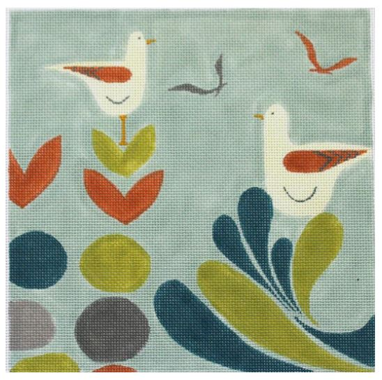 click here to view larger image of Mid Century Art - Birds by the Sea (hand painted canvases)