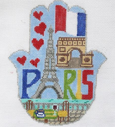 click here to view larger image of HAMSA - Paris (hand painted canvases)