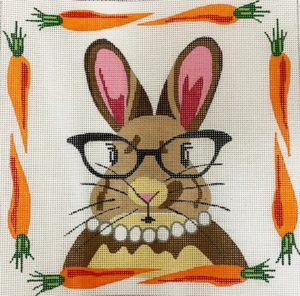 click here to view larger image of Ms Rabbit with Glasses (hand painted canvases)
