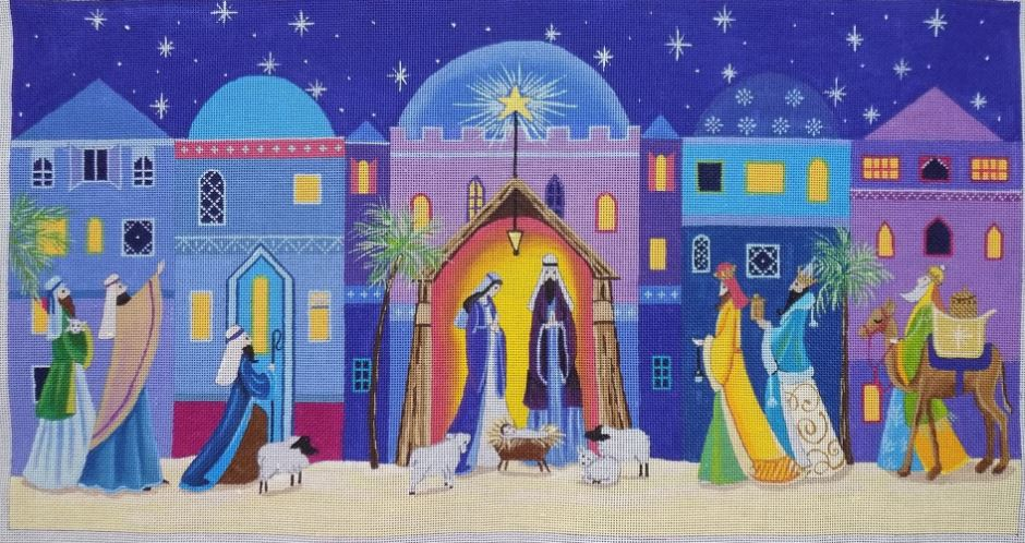 click here to view larger image of Bethlehem (hand painted canvases)