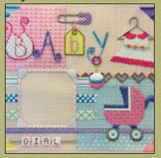 click here to view larger image of Baby Girl Scrapbook (hand painted canvases)