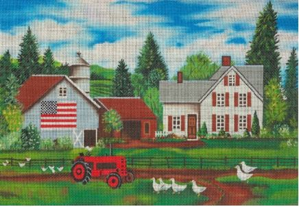 click here to view larger image of Ducks and Chickens (hand painted canvases)