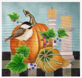 click here to view larger image of Autumn Chickadee (hand painted canvases)