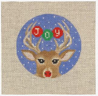 click here to view larger image of Antler Joy (hand painted canvases)