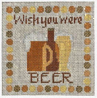 click here to view larger image of Wish You Were Beer (hand painted canvases)