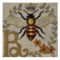 click here to view larger image of B for Bee (hand painted canvases)