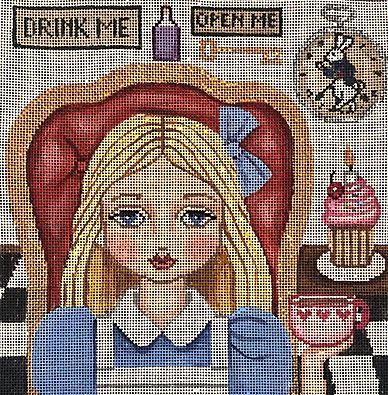 click here to view larger image of Alice in Wonderland  (hand painted canvases)