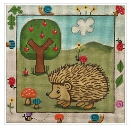 click here to view larger image of Hedgehog and Friends (hand painted canvases)
