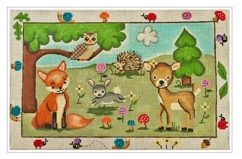 click here to view larger image of Woodland Creatures  (hand painted canvases)