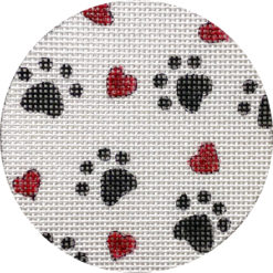 click here to view larger image of Puppy Paws and Hearts (hand painted canvases)