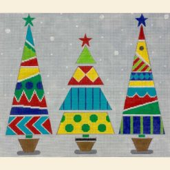 click here to view larger image of Three Christmas Trees  (hand painted canvases)