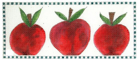 click here to view larger image of 3 Little Apples (hand painted canvases)
