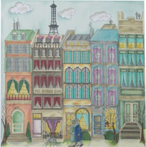 click here to view larger image of Avenue Bosquet (hand painted canvases)