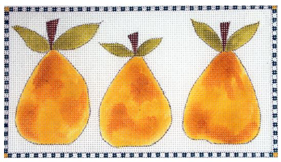 click here to view larger image of 3 Little Pears (hand painted canvases)