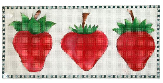 click here to view larger image of 3 Little Strawberries (hand painted canvases)