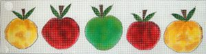 click here to view larger image of 5 Little Apples (hand painted canvases)