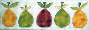 click here to view larger image of 5 Little Pears (hand painted canvases)