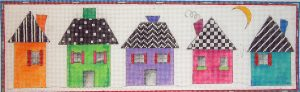 click here to view larger image of 5 Little Houses (hand painted canvases)