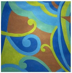 click here to view larger image of Pucci A (hand painted canvases)