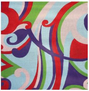 click here to view larger image of Pucci D (hand painted canvases)