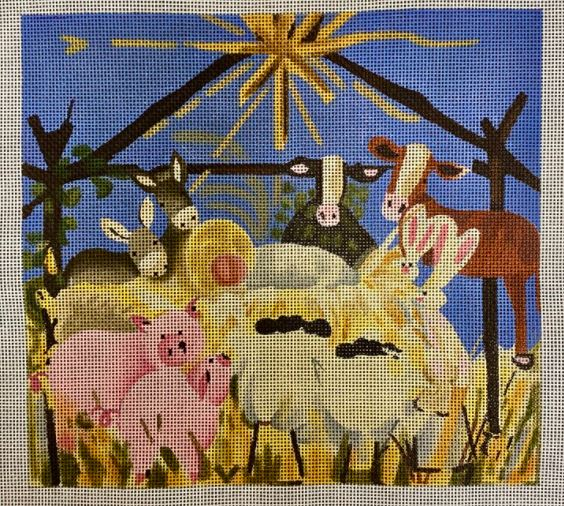 click here to view larger image of All Animal Nativity - Large (hand painted canvases)