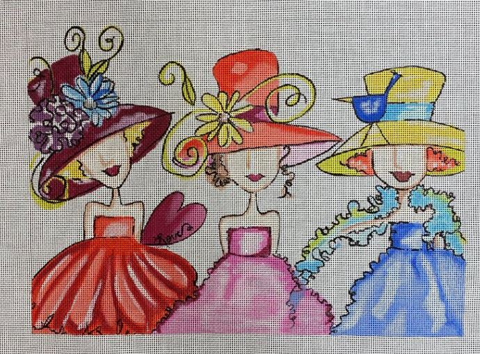 click here to view larger image of Three Ladies (hand painted canvases)