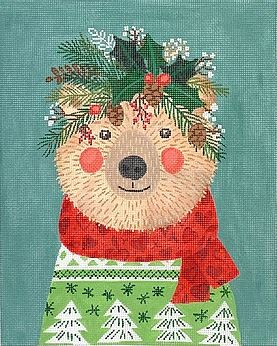 click here to view larger image of Christmas Squad - Bear (hand painted canvases 2)