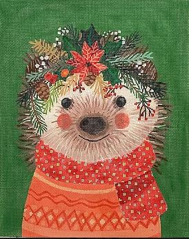 click here to view larger image of Christmas Squad - Hedgehog (hand painted canvases 2)