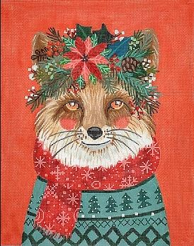 click here to view larger image of Christmas Squad - Fox (hand painted canvases 2)