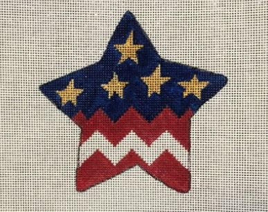 click here to view larger image of Americana Flag Star (hand painted canvases)