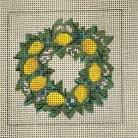 Lemons Wreath hand painted canvases
