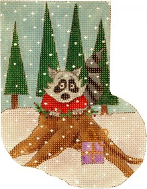 click here to view larger image of Woodland Raccoon (hand painted canvases)