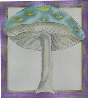 click here to view larger image of 1 Wild Mushroom - Blue (hand painted canvases)