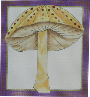 click here to view larger image of 1 Wild Mushroom - Gold (hand painted canvases)