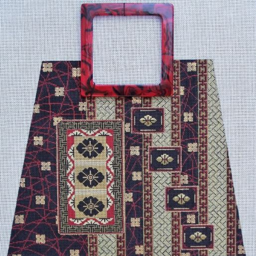 click here to view larger image of Asian Purse (hand painted canvases)