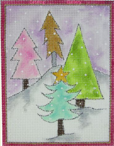 click here to view larger image of Sugar Plum Fairy Trees -4 Trees (hand painted canvases)