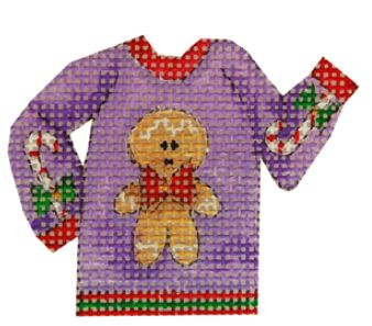 click here to view larger image of Gingerbread Ugly Sweater (hand painted canvases)